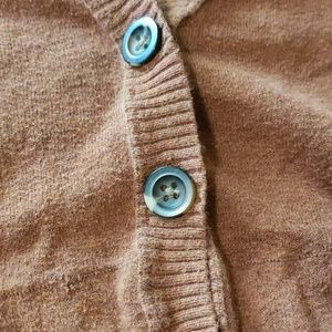 Mossimo Supply Co. Sweaters - Light Orange Button Up Cardigan by Mossimo (L)